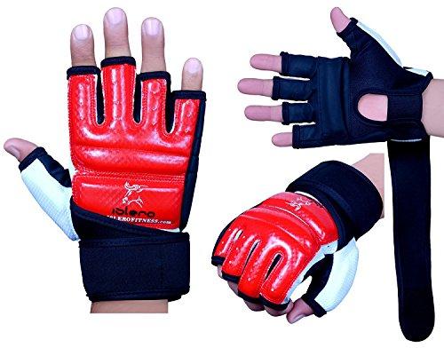 Islero Gel-Handschuhe aus Leder für MMA, Boxsack, Kampfsport, Karate, Größe S