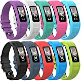 QGHXO Band for Garmin Vivofit 1 / Vivofit2, Soft Silicone Replacement Watch Band Strap for Garmin Vivofit 1 / Garmin Vivofit 2 Activity Tracker, Small, Large, Ten Colors (10PCS Bands, Small)