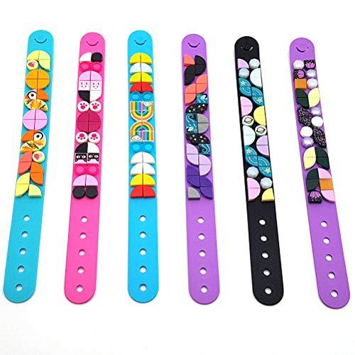 Venhoy DIY Creative Craft Block - Juego de 6 pulseras para niños