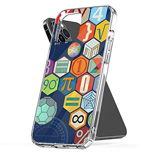 Phone Case Math in Color (Blue) Compatible with iPhone 6 6s 7 8 X XS XR 11 Pro Max SE 2020 Samsung Galaxy Funny Scratch