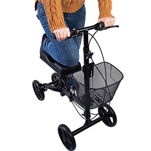 Motorino di Ginocchio piegante della direzione del camminatore del Ginocchio dei Deambulatori con Il Cuscino Ortopedico Carrello Portatile