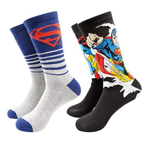 Superman Bahnbrechende Crew-Socken, 2er-Pack