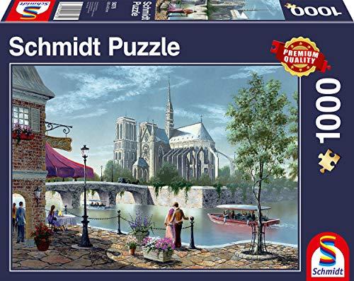 Schmidt Spiele Puzzle 58375 Notre-Dame de Paris, 1000 Teile Puzzle, bunt