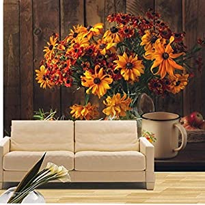 Mural Wallpaper Customize 4D print Wall Decoration,Still-Life Bouquets Zinnia Apples Vase Mug Flowers 3D Wallpaper Large Silk Mural Hd Print Art Wall Painting Poster For Living Room Tv Background Home