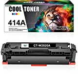 Cool Toner Compatible Toner Cartridge Replacement for HP 414A W2020A 414X W2020X for HP Color Laserjet Pro MFP M479fdw M454dw M479fdn M454dn M479 M454 Printer Ink Toner (Black, 1-Pack)