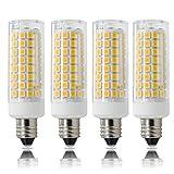 新しい E11口金 LED電球 LEDランプ 7W ハロゲンランプ75W相当 110-120V 調光可能 トウモロコシライト 360°全方向広配光 4個入り 電球色