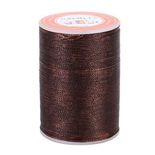 Hilo encerado de 160 m, 6 colores, hilo de piel, hilo de coser, para cuero marroquinería, artesanía, 0,45 mm (marrón)