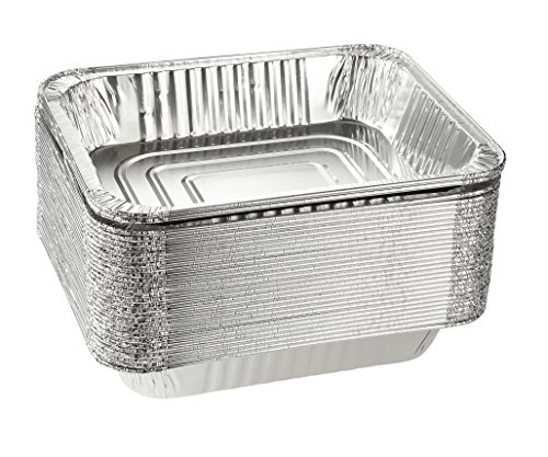 Aluminum Pans - 30-Piece Disposable Half Size Deep Steam Table Tins Foil Pans for Baking, Roasting, Cooking, Serving - 12.75 x 10.25 x 2.25 inches, 500-F