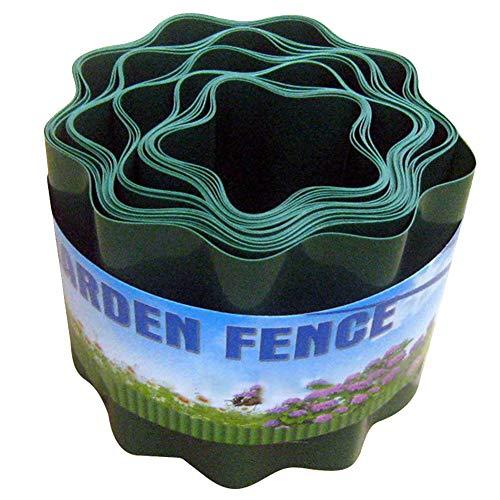 Hek pad gras muur flexibele gazon rand binnenplaats bloem beschermen tuin decoratieve invoegen eenvoudige installatie Palisade Ripple vorm DIY duurzaam free size as picture show