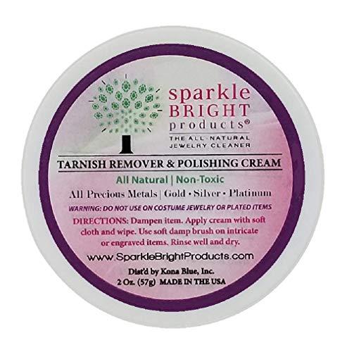 Sparkle Bright Products 100% natürlicher Schmuckreiniger | Fleckenentferner- & Poliercreme – 59 ml.