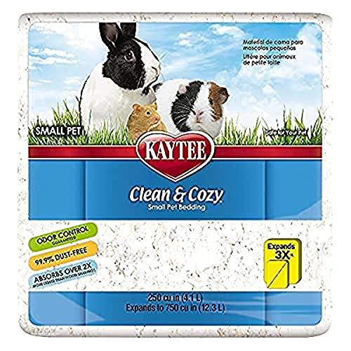 Kaytee Clean & Cozy Bettwaren für kleine Haustiere/ Nager/ Hamster, 99,9% staubfrei, Geruchskontrolle, Weiß, 12.3 Liter
