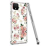 OOK Clear Phone Case Designed for Google Pixel 4 Transparent Case with Flower Wallpaper