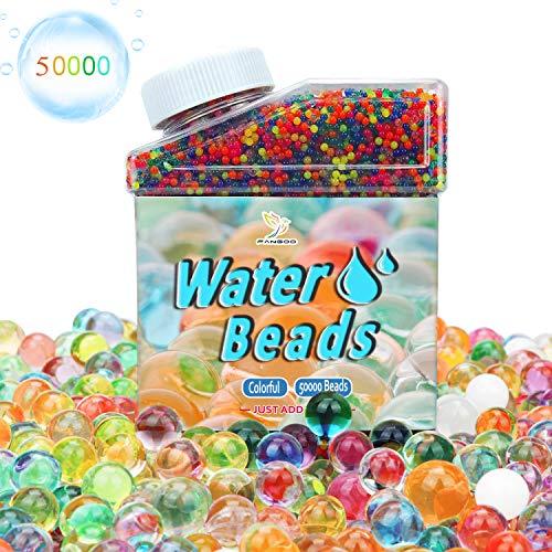 Fangoo 50000 psc Perlas de Gel para El Agua Cuentas de Agua Multicolor de Crecimiento, Perlas del Gel del Agua para El llenador del Florero