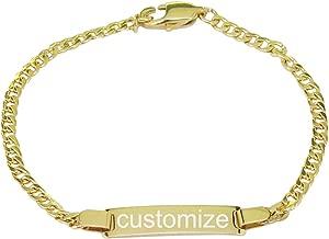 baby name bracelets gold