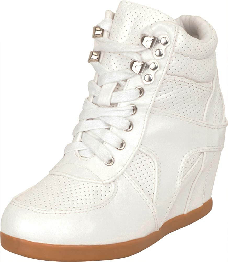 Special Campaign Cambridge Select Girls' High Top NEW Peforated Lace-Up Hidden Chunky