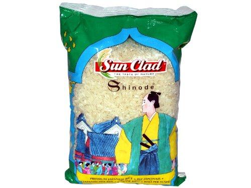Sun Clad - Shinode Sushireis / Spitzenreis Rundkorn, 3er Pack (3 x 1 kg)
