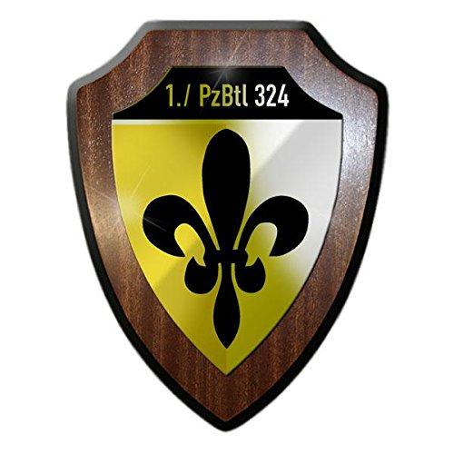 Wappenschild - 1 PzBtl 324 Schwanewede Panzer-Battaillon Bremen Kpz Leopard 1 Bundeswehr Kompanie Soldaten Erste Einheit Abzeichen Wappen #19506
