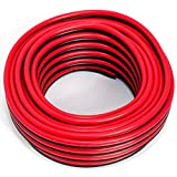 Cable de altavoz 2 x 4,00 mm², 10 m, rojo y negro, CCA, cable de audio