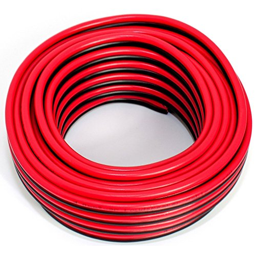 Cable para altavoz (2 x 4,00 mm2, 10 m), color rojo y negro