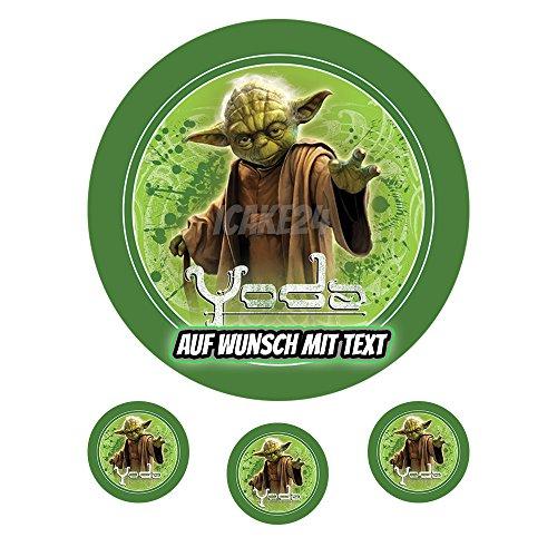 Tortenaufleger Geburtstag Tortenbild Zuckerbild Oblate Motiv: Star Wars Yoda (Oblatenpapier)