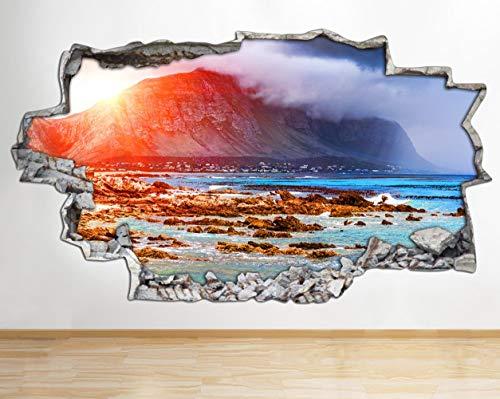 Muurtattoo Schilderij landschap natuur Cool versnipperd muursticker 3D kunst sticker vinyl kamer kinderen slaapkamer baby kinderkamer poster woonkamer jongens meisjes gat