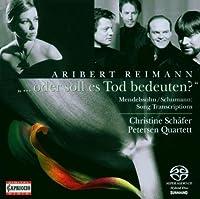 Oder Soll Es Tod Bedeuten by REIMANN & SCHUMANN (2008-12-15)