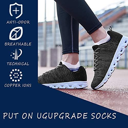 Fit Running Socks 3/6 Pack, Moisture Wicking No Show Ankle Socks for Men and Women