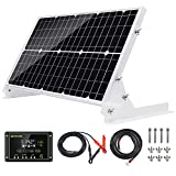 Topsolar 30W 12V Solar Panel kit Battery Charger Maintainer + 10A Waterproof Solar Charge Controller + Adjustable Mount Tilt Rack...
