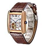 腕時計 スケルトン メンズ BINLUN 自動巻き 機械式 高級 シースルーバック 5気圧防水 父の日ギフト 人気 ファッションウォッチ [並行輸入品]