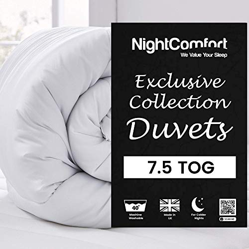 NightComfort Exclusive Collection 7.5 TOG All Seasons Duvet Super Soft Touch Cover Single
