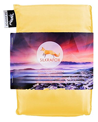 Silkrafox, Sacco a Pelo Ultraleggero in Seta Artificiale, Sacco Lenzuolo