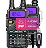 2PCs Baofeng Radios UV-5R MK4 8 Watt MP Max Power with Programming Cable Compatible with Baofeng Ham Radio, Two Way Radios Mirkit Edition