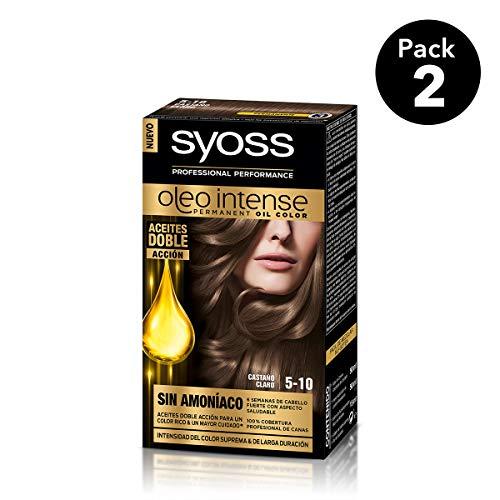SYOSS - Oleo Intense Coloración Permanente Sin Amoníaco  - Tono 5-10 Castaño Claro - 2 uds