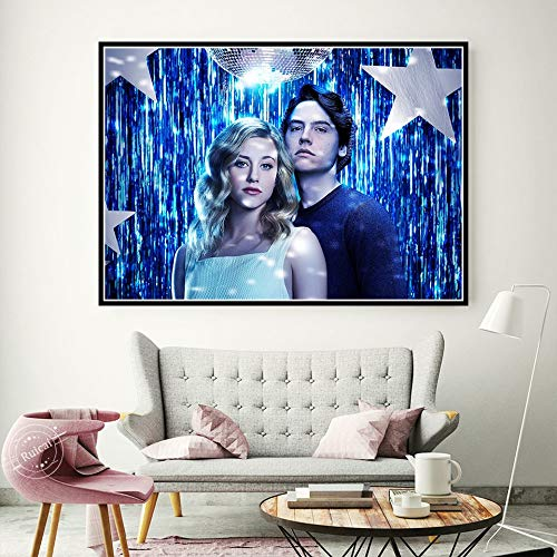 Xojbid Diy Diamond Painting Kit,Riverdale TV series Movie,5d Seam Diamond Painting Full Diamond Diamond Art Suitable For Relaxation And Home Wall Decoration(Square30x40cm)