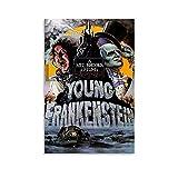LAOLIU Young Frankenstein 1974 Vintage-Horror-Filmposter,