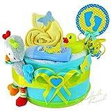 Torta di Pannolini/Pampers torte  Baby regalo per ragazzi in schoenem tono...