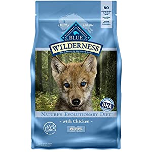 Blue Buffalo Wilderness High Protein, Natural Puppy Dry Dog Food, Chicken