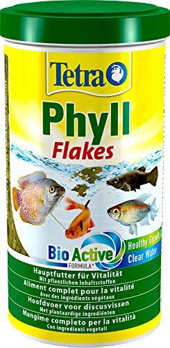 TetraPhyll (Hauptfutter für alle pflanzenfressenden Zierfische, mit lebenswichtigen Ballaststoffen plus Präbiotika), 1 Liter Dose