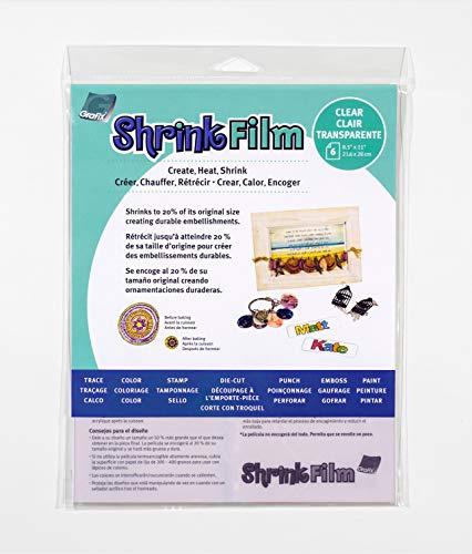 Grafix Ksf50-w 8–1/5,1 cm par 27,9 cm Shrink Film, Claire, 6-Pack