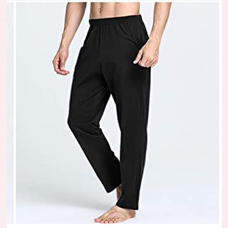 LPKH Yoga Pants Pilates Pants,Men's Cotton Trouser Stretch Tracksuit,Yoga Pants Running Gym Harem Pants,Ideal for Any Yoga Style, Outdoor Activities (Color : Black, Size : XXL)
