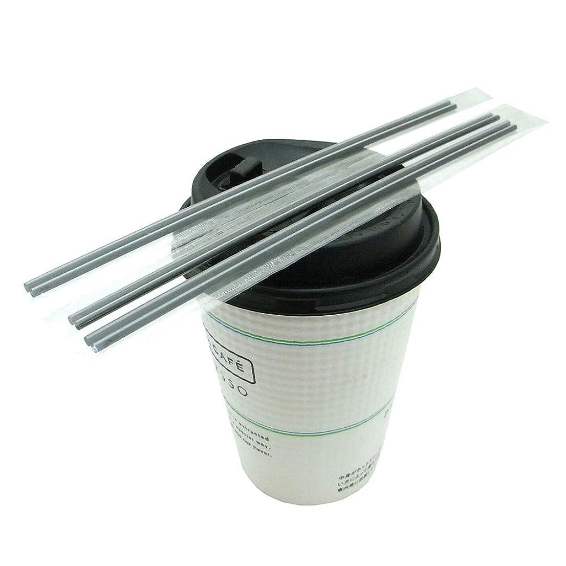技術エキスパート脱走個別包装ホットコーヒー用マドラーストロー500個/18cmブラック