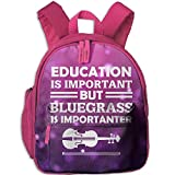 Education is Important But Guitar is Importanter Toddler Mini Backpack Shoulder Schoolbag with Front...