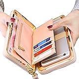 Taoqiao Women Bowknot Wallet Long Purse Phone Card Holder Clutch Large Capacity Pocket(Black