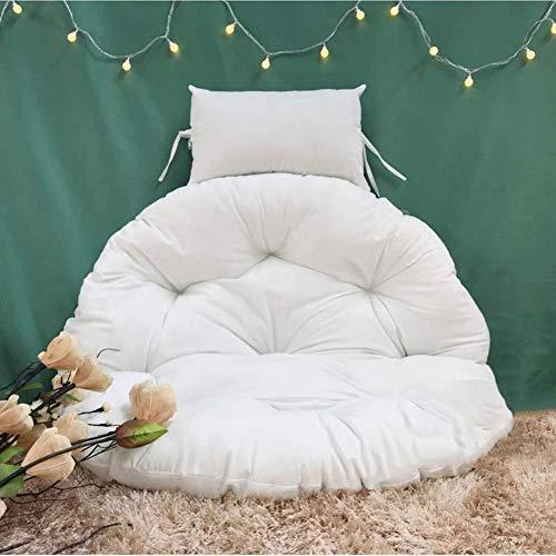 ZXL Eiernest gevormde kussens, kussen voor hangstoel, zonder neststandaard, dik zitkussen voor schommels, rond, afneembaar en wasbaar overtrek, meerkleurig, met diameter van het kussen - roze 105 cm