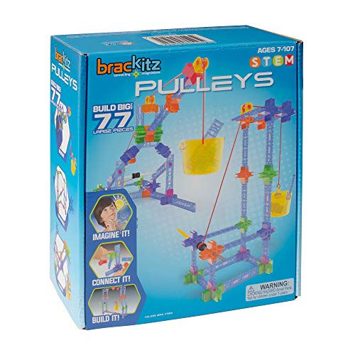 Brackitz Pulley Set for Kids | Building Toy for Boys and Girls Ages 4, 5, 6, 7, 8 Years Old | STEM...