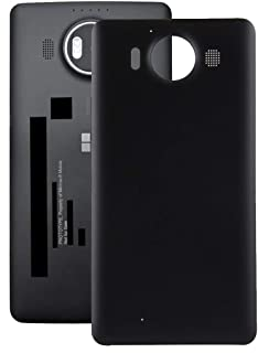 Lingland Battery Back Cover For Microsoft Lumia 640 XL (Black) cell phone rear covers placement parts (Color : Black)