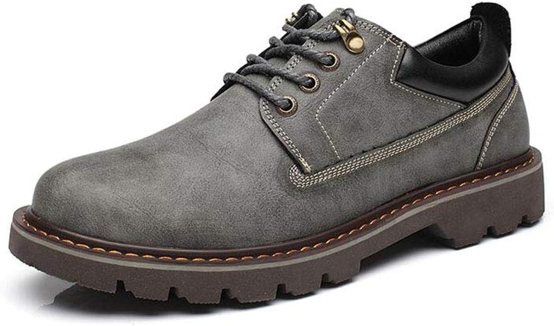FF FF FF Herrenschuhe Große Schuhe Lederschuhe Niedrig Hilfe Martin Stiefel Retro Tooling schuhe (Farbe   Grau, Größe   EU39 UK6.5 CN40)  473cbc