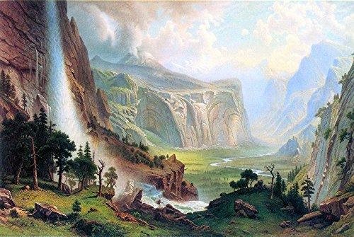 Das Museum Outlet–Half Dome In Yosemite by Bierstadt–Leinwanddruck Online kaufen (152,4x 203,2cm)