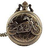 fenkoo Veste de vélo en alliage à quartz analogique montre de poche (Bronze)