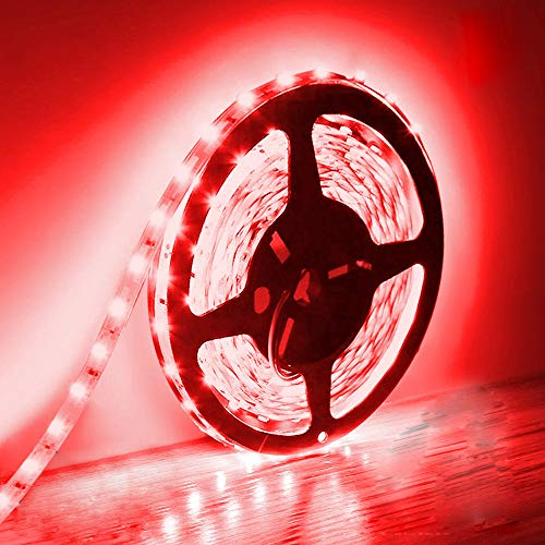 BOGAO 5M LED Strip Lights 300 Units SMD 5630 12V Low-Voltage Strip Light Non-Waterproof IP20 LED Tape Red Ribbon Lighting for Home Kitchen Cabinet and More